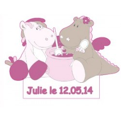 Stickers Victoria & Lucie personnalisable