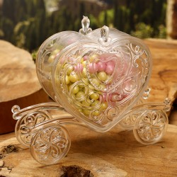 Carrosse coeur en plexi transparent