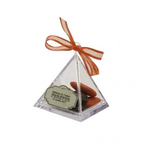 Pyramide transparente en plexi