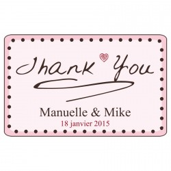 "Sticker ""THANK YOU"" personnalisable"
