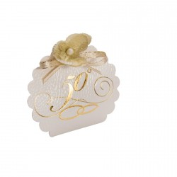 "Cartonnage blanc ""Noce d'or"""