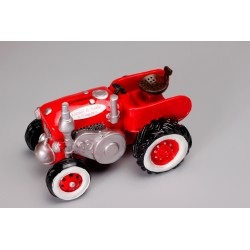 Tirelire tracteur rouge