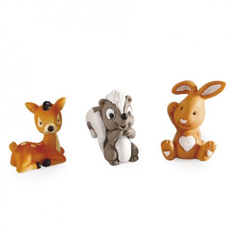"Porte-clefs animaux ""Safari"" 4 Ass"